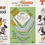 The 1972 Minnesota Twins #baseball schedule, courtesy of Hamm's #Beer
