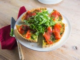Smoked Salmon and Dill Quiche from CookingChannelTV.com
