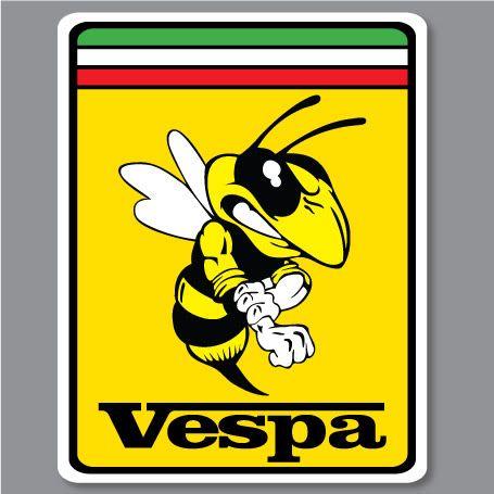 2X VESPA PIAGGIO FERRARI Bee Biene Hornet WASP Aufkleber Decal STICKERS in Auto & Motorrad Teile, Auto-Tuning & -Styling, Aufkleber & Folien
