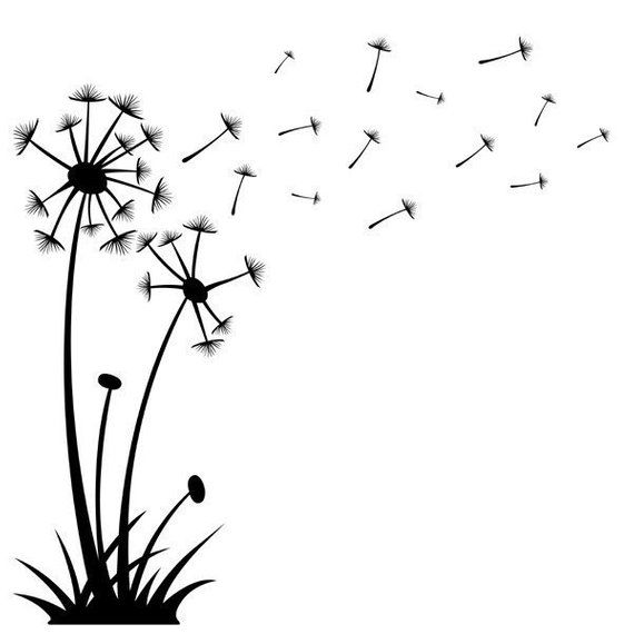 Dandelions Blowing In The Wind Vinyl Wall Art Vinyl Decal Etsy In 2020 Vinyl Wall Art Word Wall Art Dandelion Wish
