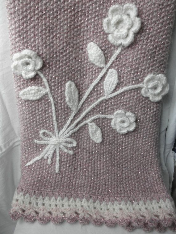 Pink-white bay blanket baby girl blanketnew born by megghyshop