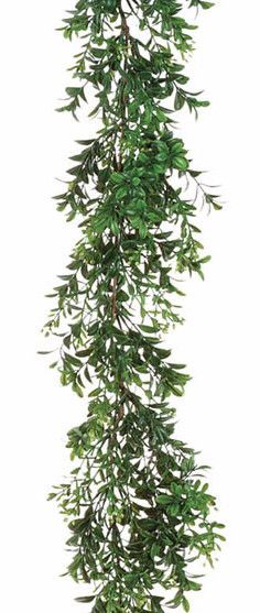 Artificial Boxwood Garland in Green 6' Long