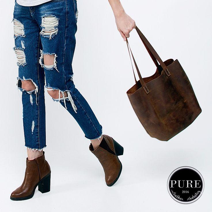 Handmade vintage leather bag