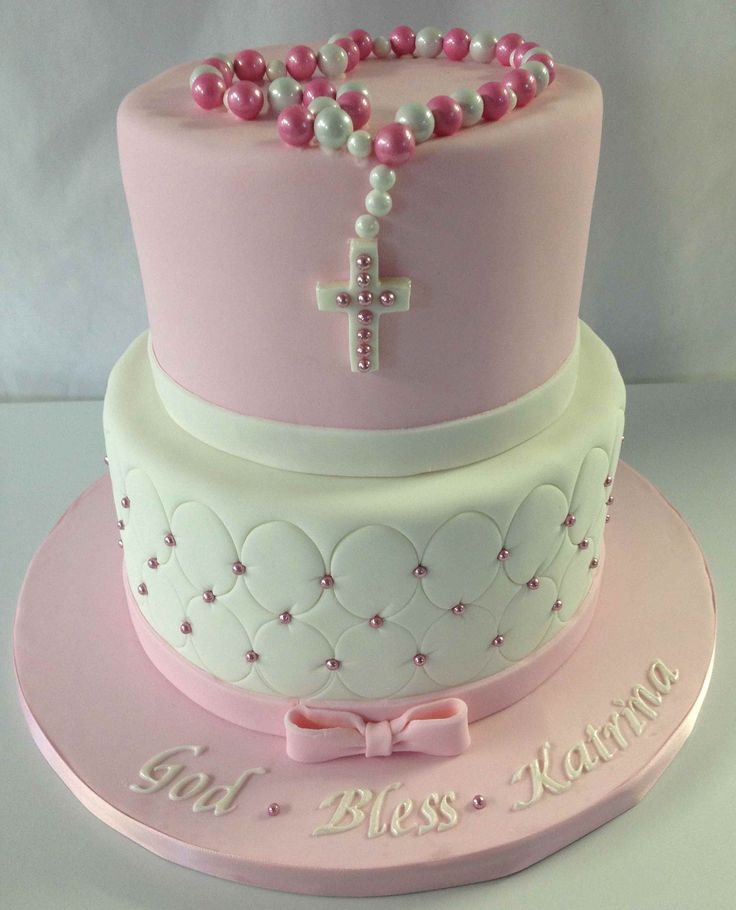 3D Cakes for Girls | ... cake-for-girls-pink-communion-cake-pink-and-white-girls-communion-cake