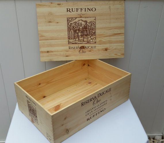 Wine Crate Ruffino Wine Crate with Lid by IdleTymeCreations