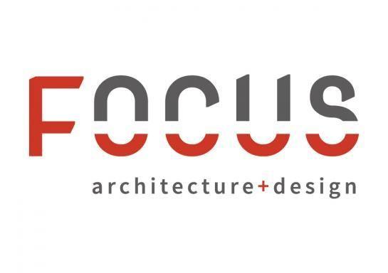 Logo we designed for FOCUS: architecture+design, an interior design firm located in Northern VA.