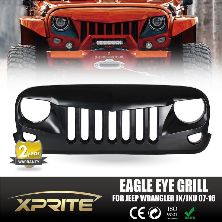 Eagle Eye Matte Black Front Hood Grill Grille Grid for 2007 2016 Jeep Wrangler | eBay