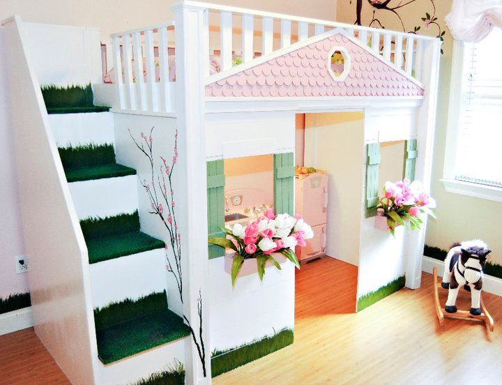Children's playhouse bed