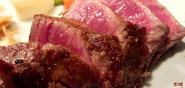 """""""ステーキですて~きなひと時を過ごす""""なんて  すて~きですよね(^-^;) ★銘柄に拘らず 美味しいお肉を!★ 葉山のステーキレストラン そうまhttp://www.steak-souma.jp/"""