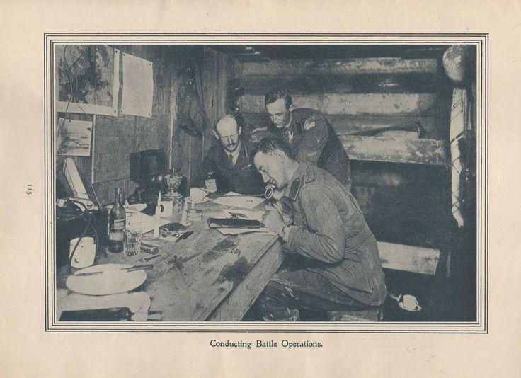 "Original 1917 Anzac Print-Antique Vintage ""Conducting Battle Operations""."