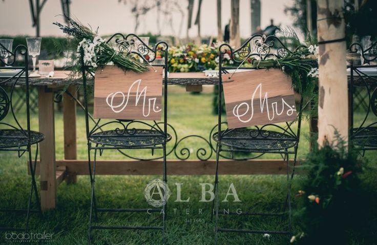 Matrimonio eco country. Il tavolo degli sposi