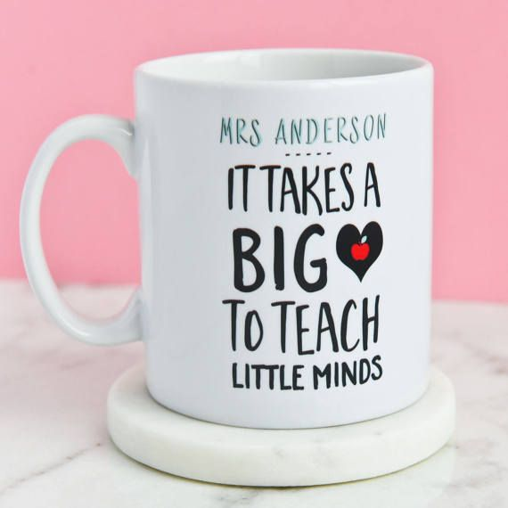 Personalised Teacher Gift  It Takes A Big Heart To Teach