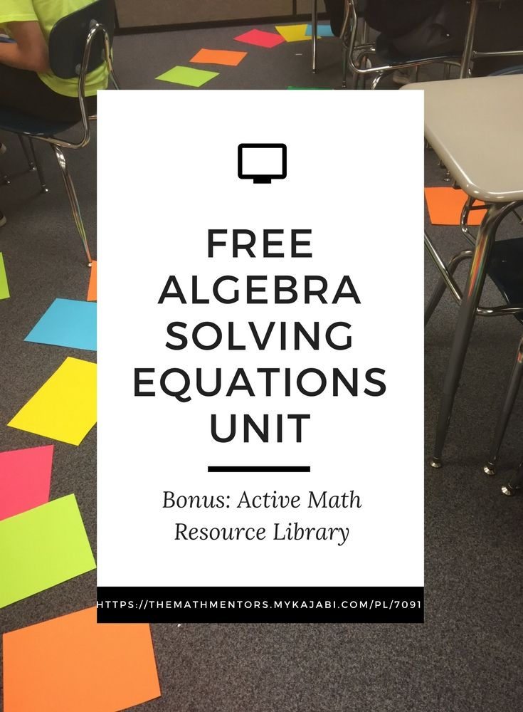 Solving equations unit click now   algebra activities   algebra games   math activities   solving equations activities   https://themathmentors.mykajabi.com/pl/7091