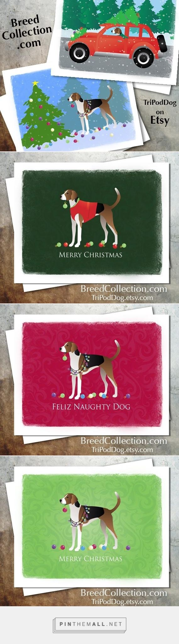American Foxhound Dog Christmas Cards from the Breed Collection - Digital Download Printable - On Etsy