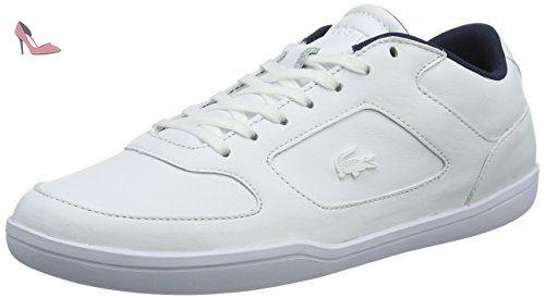 Lacoste Ampthill Lcr3 SPM, Baskets Hautes Homme, Bianco(White), 39.5 EU