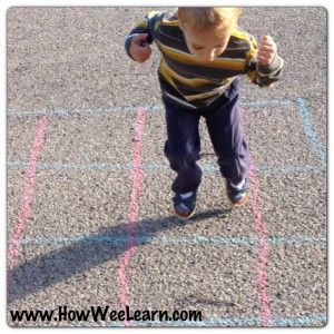 Preschool number activities - Graphing with nature.  Learn numbers, counting, and patterning while playing outside!