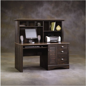 Pin On For The Home, Sauder Antique White Desk With Hutch
