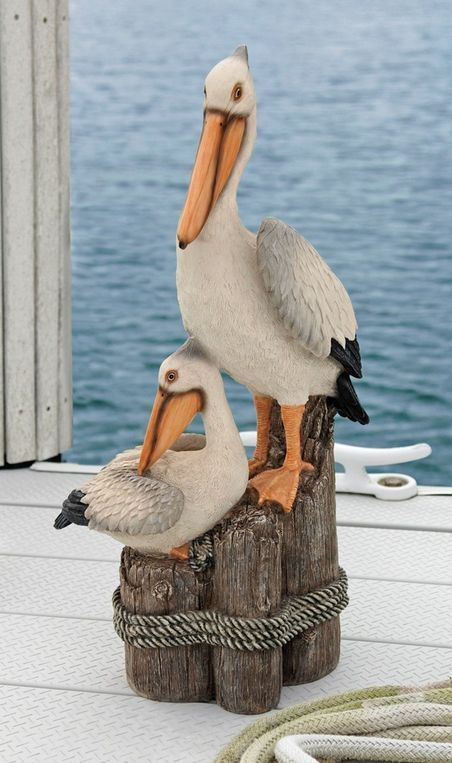 pelican yard ornament outdoor statue bird figurine