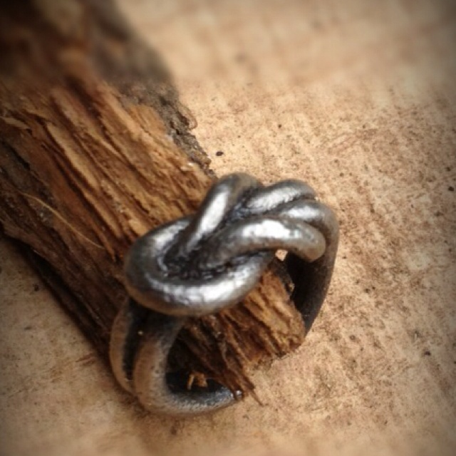 A knot ring I forged.