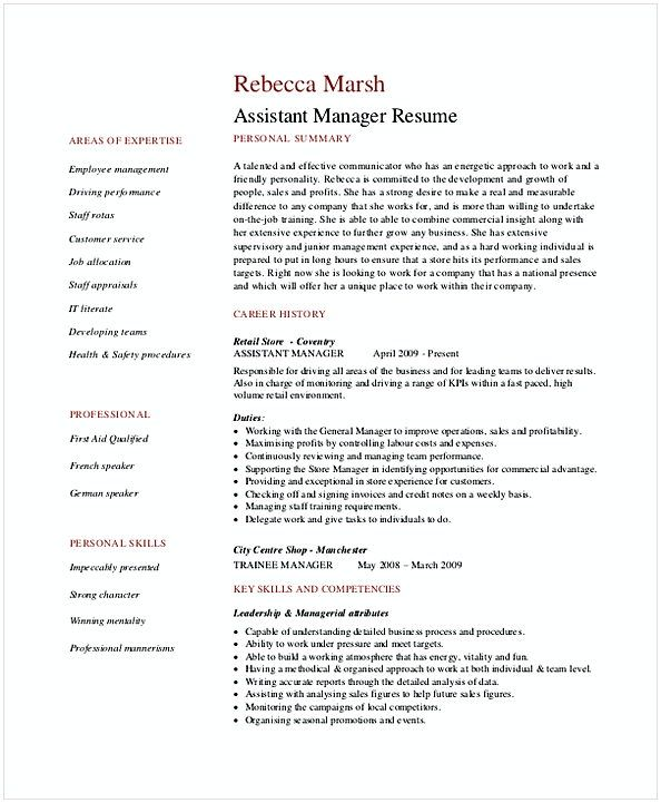 the 25 best retail manager ideas on pinterest information resume for retail manager - Resume Examples For Assistant Manager