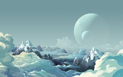 Icy planet wallpaper
