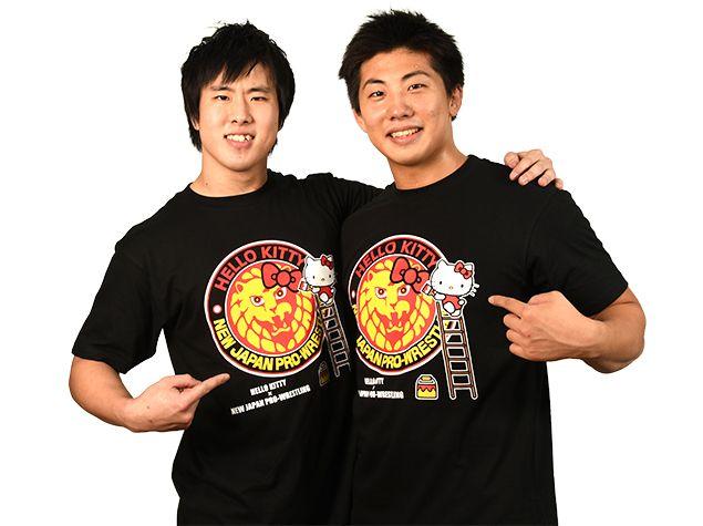 ハローキティ×新日本プロレス コラボTシャツ「Strong plus Lovely!」