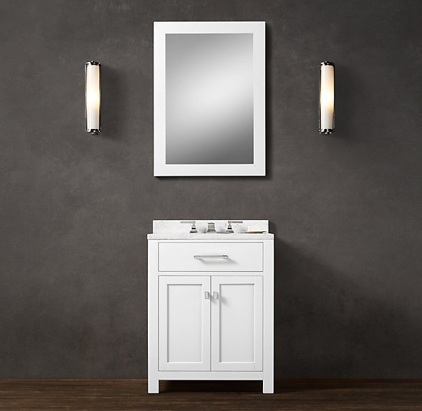 13 best sinks narrowed images on pinterest bathroom for Vanities for powder rooms