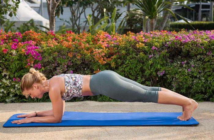 Platt-mage-snabbt-övningar med Topphälsa