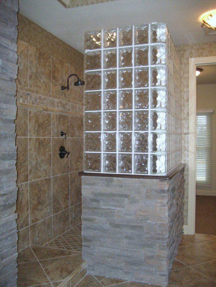 17 meilleures idees a propos de salle de bains brique sur for Salle de bain design avec billes de verre décoratives