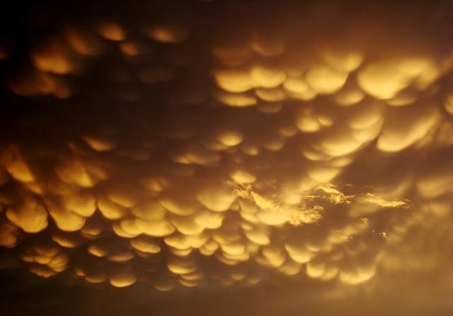 Esta nubes son conocidas como mastodónticas, mammatus, mamma o mammatocumulus.