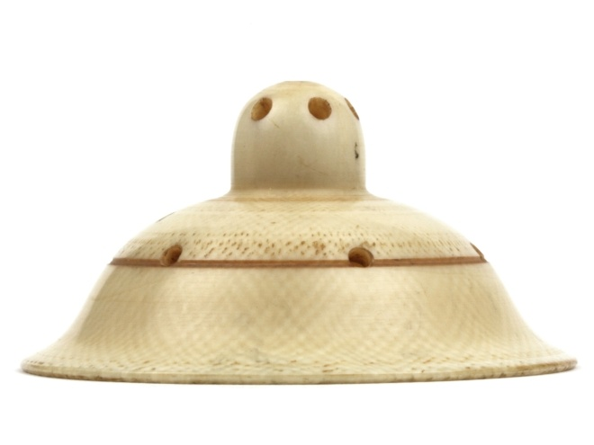 19th century ivory nipple shield. (What do nipples need to be shielded from that requires ivory?)