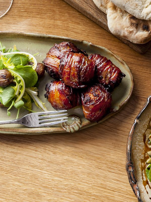 This recipe for bacon-wrapped dates with quince marmalade comes from Dan Doherty of Duck & Waffle and makes for a great festive canapé when you have guests over. They look really impressive but are actually very easy to make.