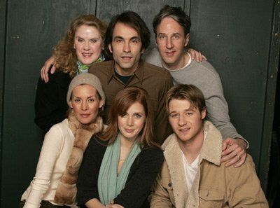 Embeth Davidtz, Amy Adams, Angus MacLachlan, Phil Morrison, Celia Weston and Ben McKenzie at event of Retratos de Família (2005)