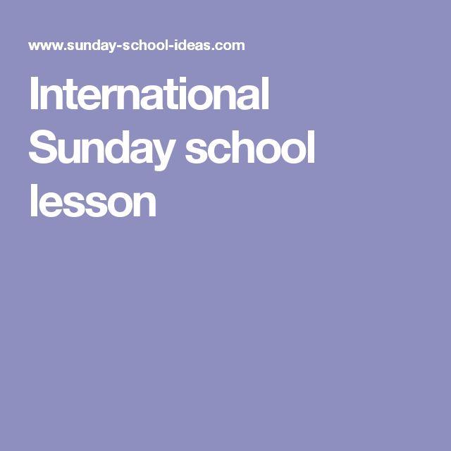 International Sunday school lesson
