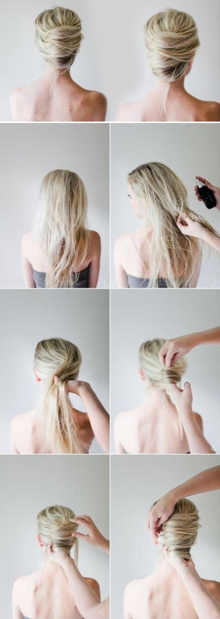 best vlasy images on pinterest hair ideas coiffure facile and