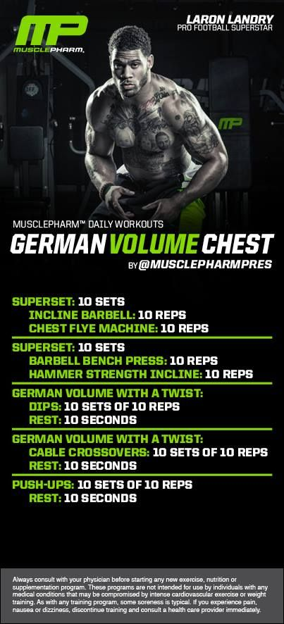 MusclePharm GVT Chest Workout