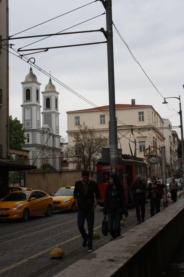 Istanbul, Kadıköy, moda caddesi. Nostalgic tram.
