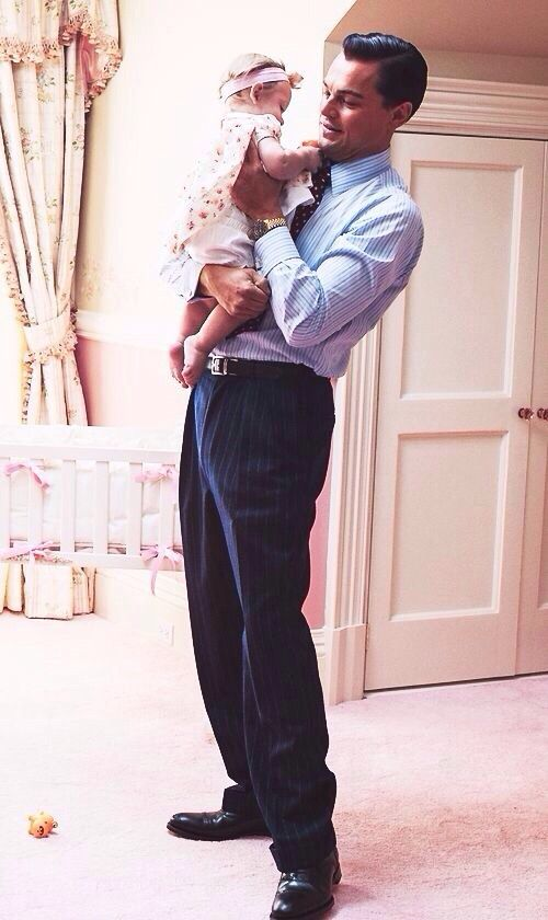 Leonardo DiCaprio.. There's something about a man holding a baby.