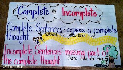 Complete v. Incomplete Sentences: Step into 2nd Grade with Mrs. Lemons
