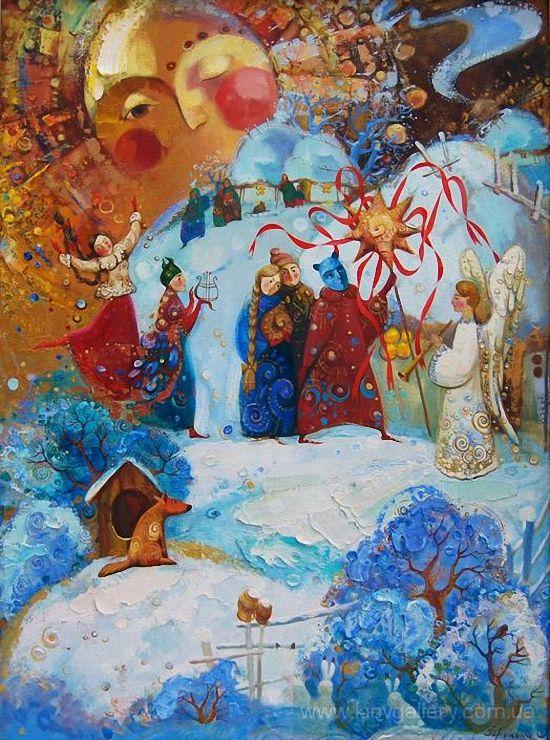 Оксана Збруцкая (Украина, род. 1982) Коляда. Didukh, Kalada and Midnight Star, Ukraine Winter Solstice