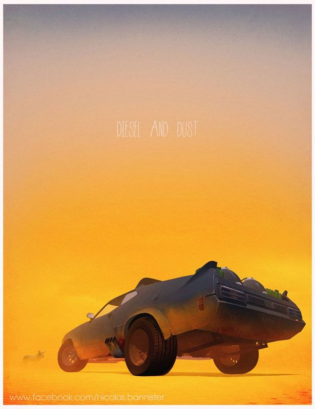 Mad Max  http://www.shortlist.com/entertainment/films/awesome-illustrations-of-movie-and-tv-cars