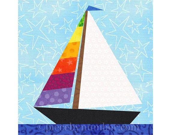 Pedazo de papel una regata de veleros! Este patrón de descarga inmediata contiene tres diseños diferentes y fácil de coser velero, en