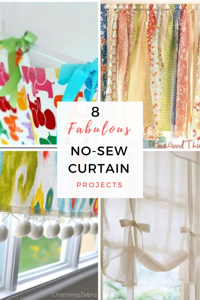 Craft Projects, No Sew Sewing, No Sew Sewing Projects, Easy Sewing Projects, Sewing Projact Hacks, Crafts, Craft Projects, Easy Craft Projects, Homemade Curtians, DIY Curtains, Popular Pin