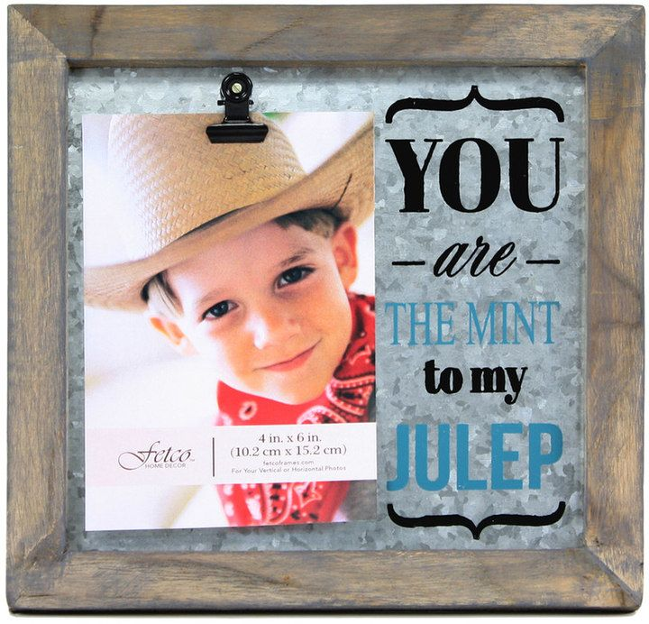 Fetco Home Decor Fetco Avadon \'\'You Are the Mint to My Julep\'\' 4\'\' x ...