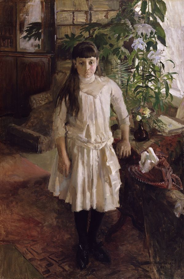 Gallen-Kallela painted the portrait of mill owner Serlachius' 11-year-old daughter Sissi in 1889. For its model, the work became a treasured and important work.