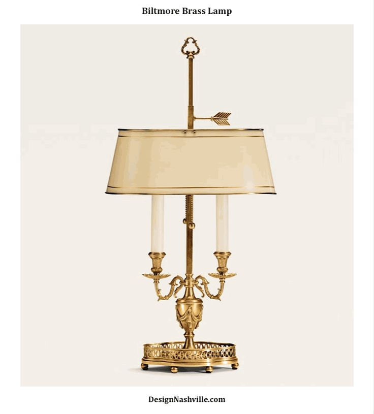 Biltmore Brass Lamp. solid brass. hand crafted by an artisan guild in business since 1928.  DesignNashville.com shipping to you.