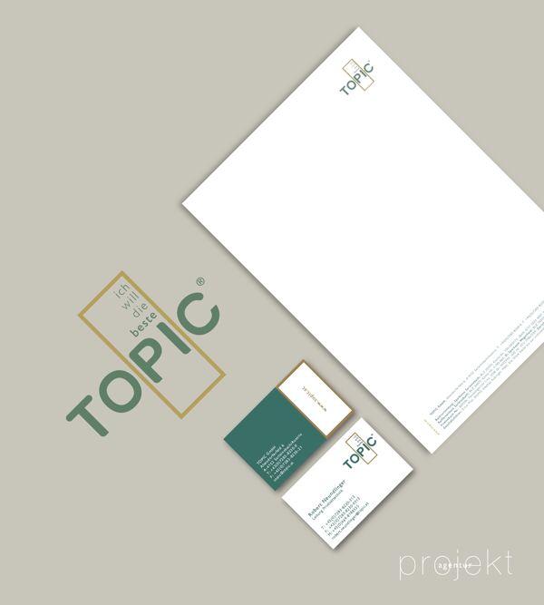 Agency: Projektagentur Weixelbaumer, Linz, Austria, Client: TOPIC GmbH, Project: corporate design