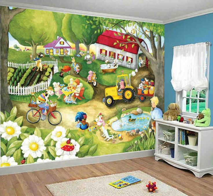 Old Macdonald Farm Wall Mural Design Part 27