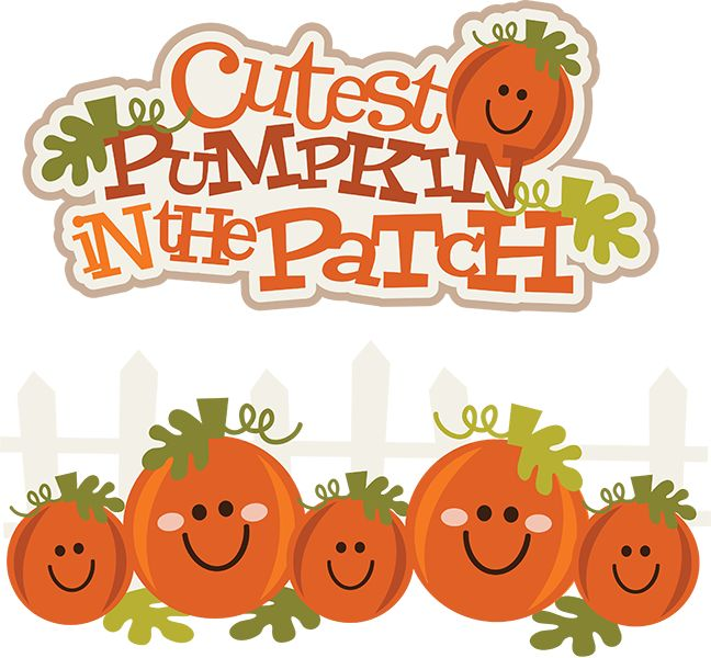 Cutest Pumpkin In The Patch SVG Clipart Cute