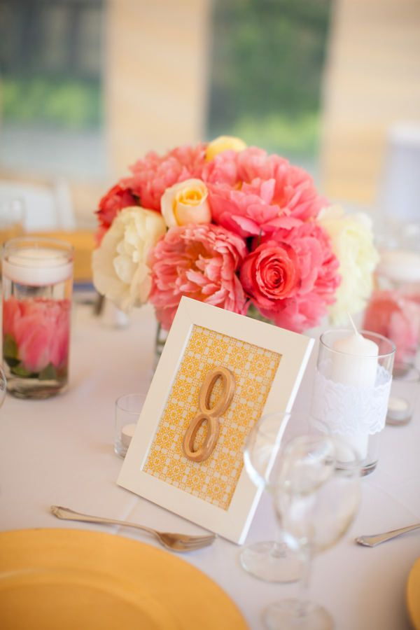 cute framed table number.